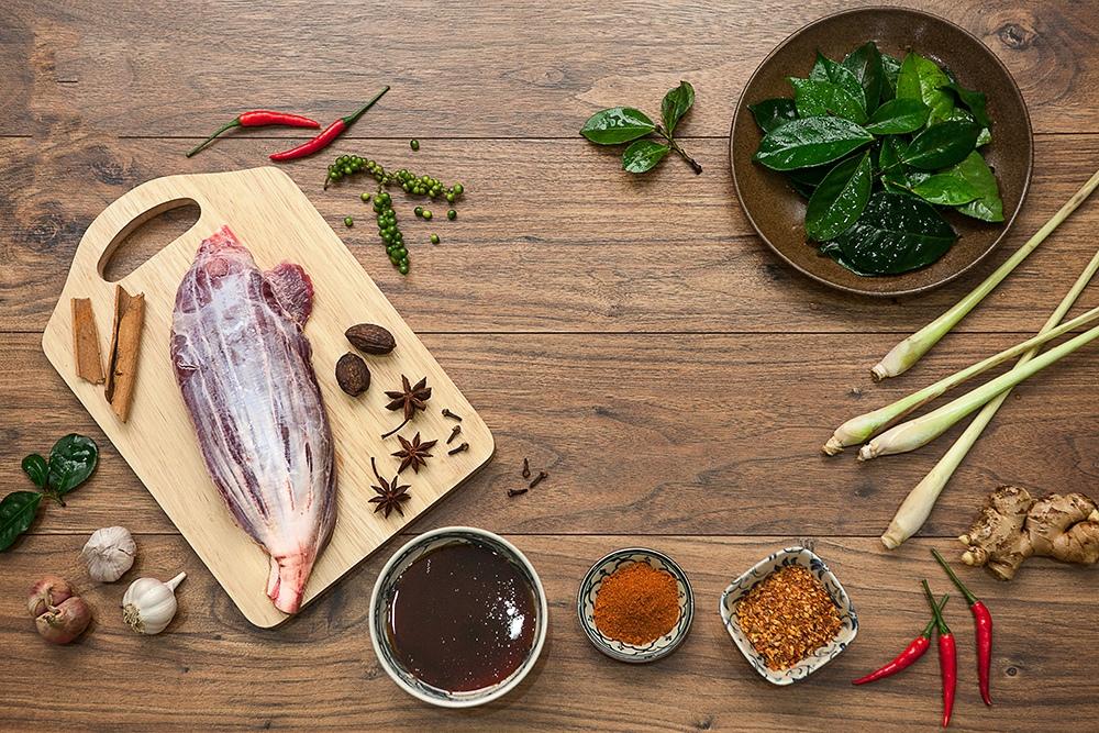 bắp bò rim mật mía 1