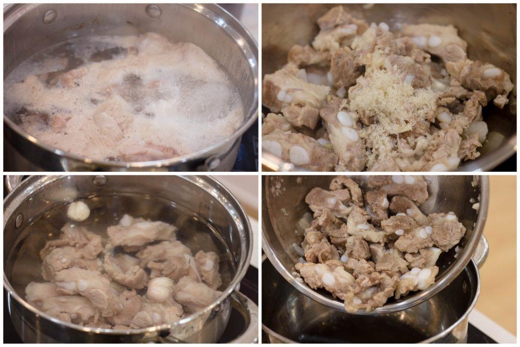 cách nấu lẩu riêu cua bắp bò sườn sụn 2