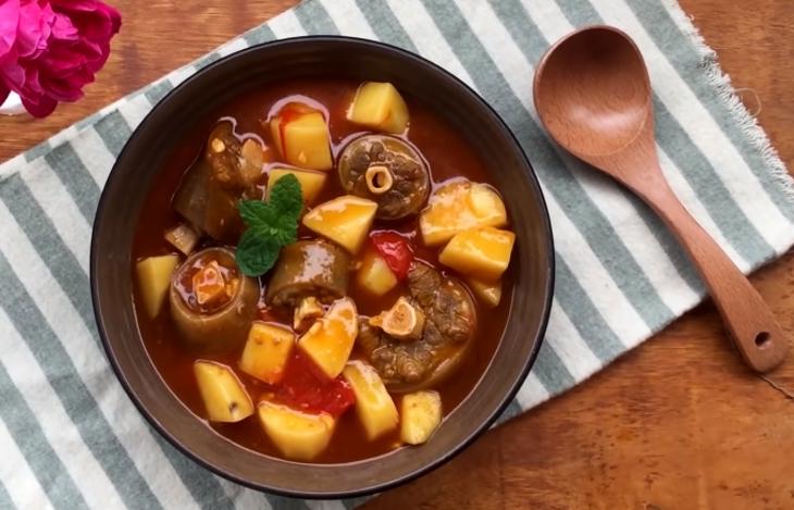 đuôi bò hầm khoai tây 1