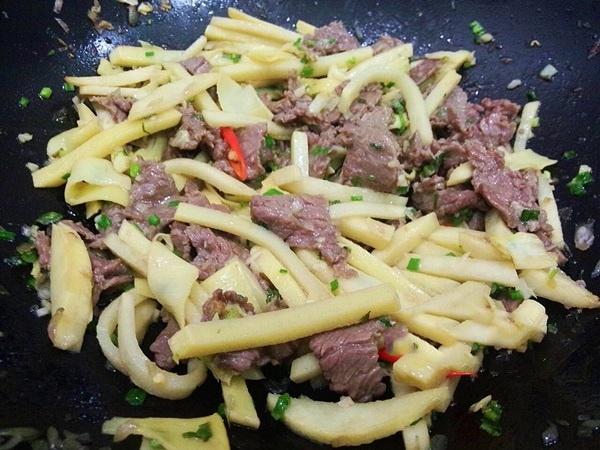 măng tươi xào thịt bò 9
