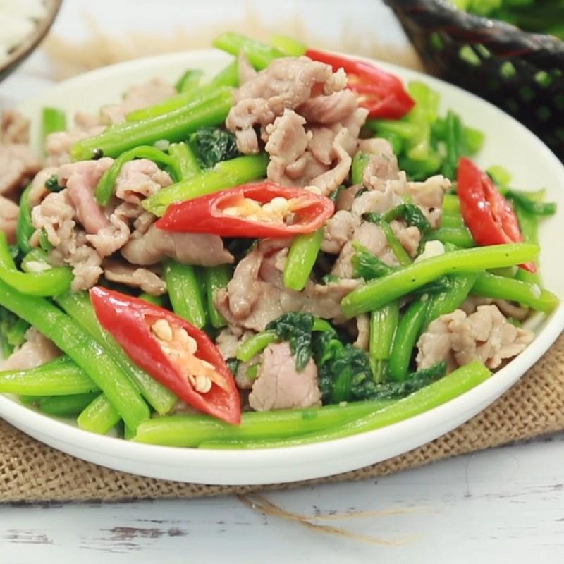 rau bí xào thịt bò 1