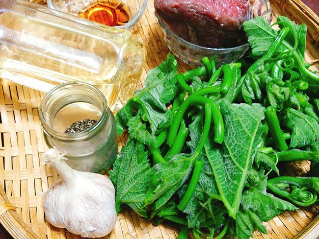 rau bí xào thịt bò 2