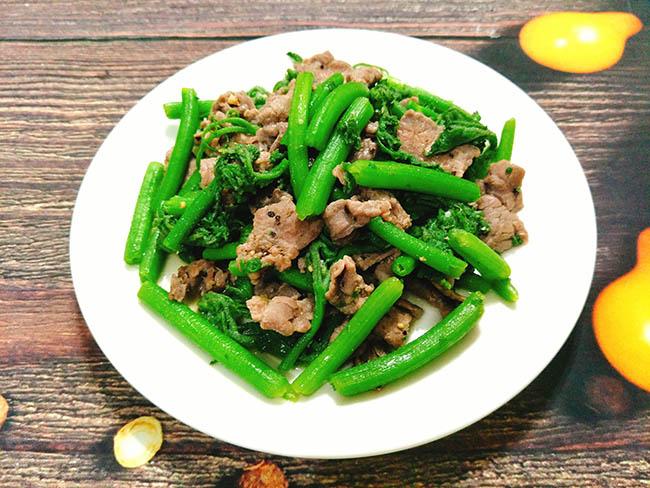 rau bí xào thịt bò 8