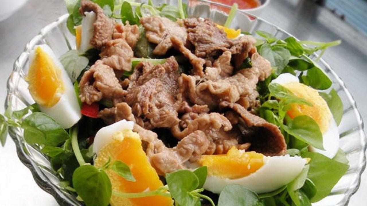 rau càng cua xào thịt bò 1