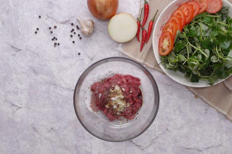 rau càng cua xào thịt bò dầu giấm 3