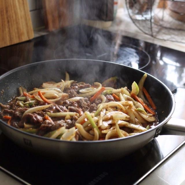 thịt bò xào cà rốt kiểu Hàn 5