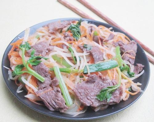 thịt bò xào củ cải khô 8