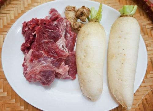 thịt bò xào củ cải tươi 1
