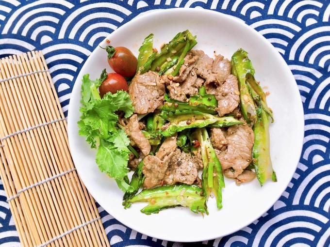 thịt bò xào đậu rồng 1