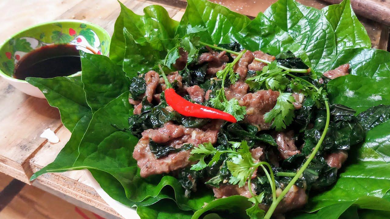 thịt bò xào lá lốt 1