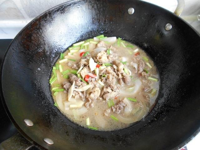 thịt bò xào măng chua củ 7