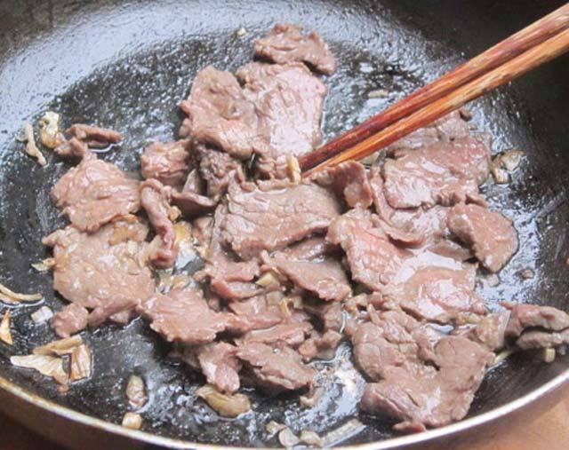 thịt bò xào mướp ngọt