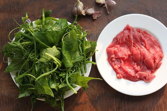 thịt bò xào ngọn su su 2