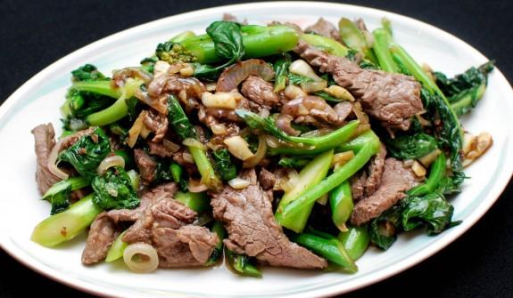 thịt bò xào rau cải 1