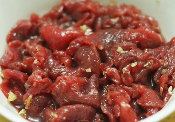 thịt bò xào rau cải 4