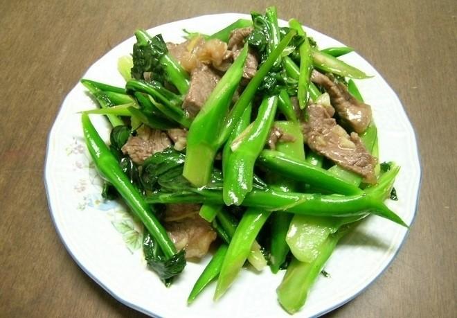 thịt bò xào rau cải 6