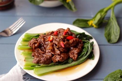 thịt bò xào sa tế rau cải 3
