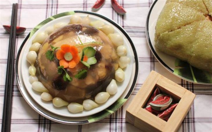 thịt gà nấu đông 8