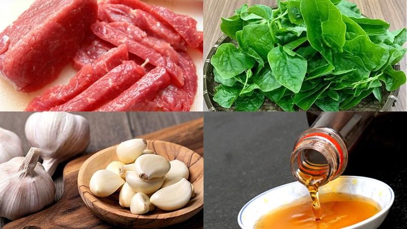 cách làm thịt bò nấu mồng tơi 2