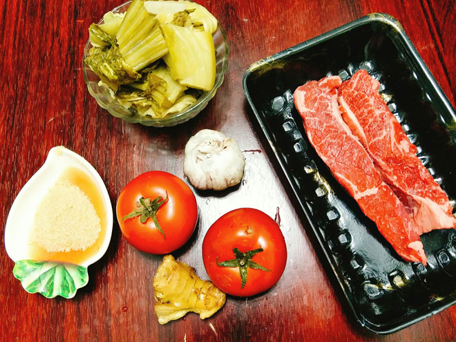 cách làm thịt bò nấu dưa chua 2