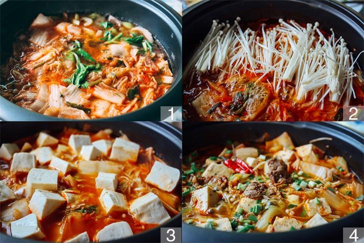 cách làm thịt bò nấu kim chi 8