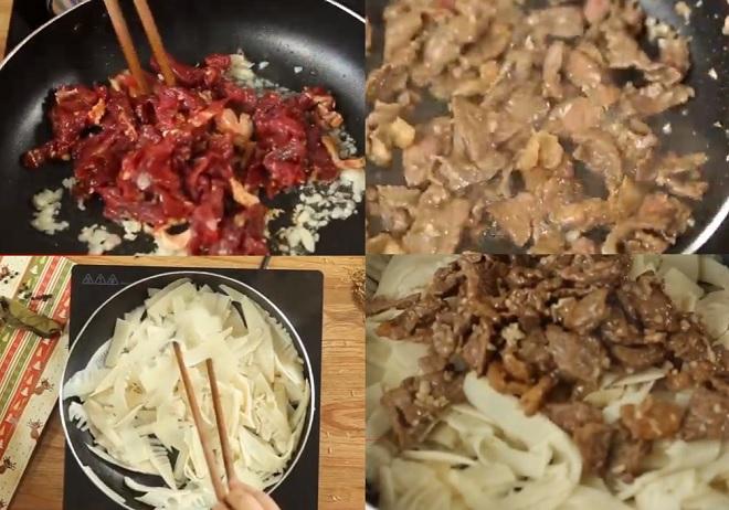cách làm thịt bò nấu măng chua ngâm 3