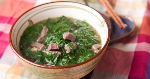 cách làm thịt bò nấu rau ngót 1