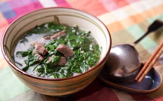 cách làm thịt bò nấu rau ngót 4