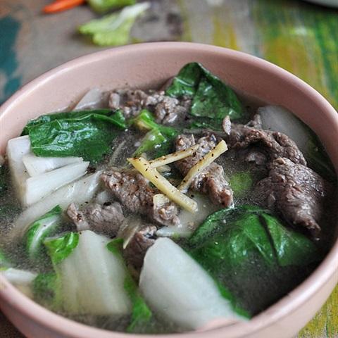 thịt bò nấu rau cải 1