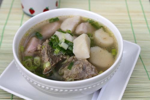 thịt bò nấu khoai sọ kiểu Hàn 5