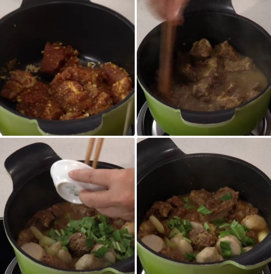 thịt bò nấu khoai sọ 6