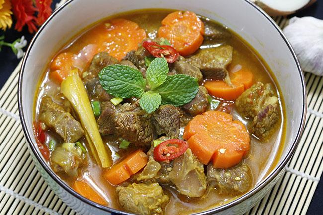 thịt bò nấu nước dừa 8