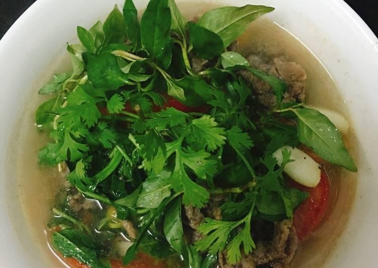 thịt bò nấu rau răm 1