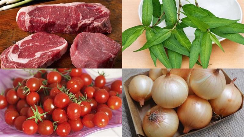 thịt bò nấu rau răm 2