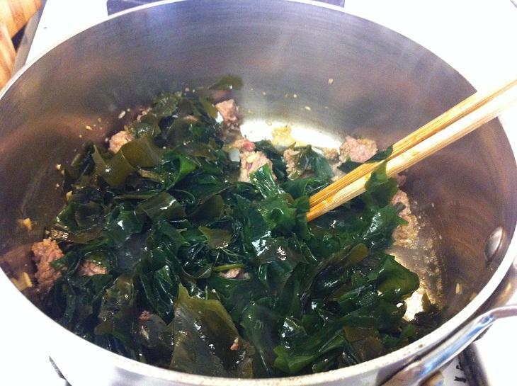 thịt bò nấu rong biển đậu hũ 4