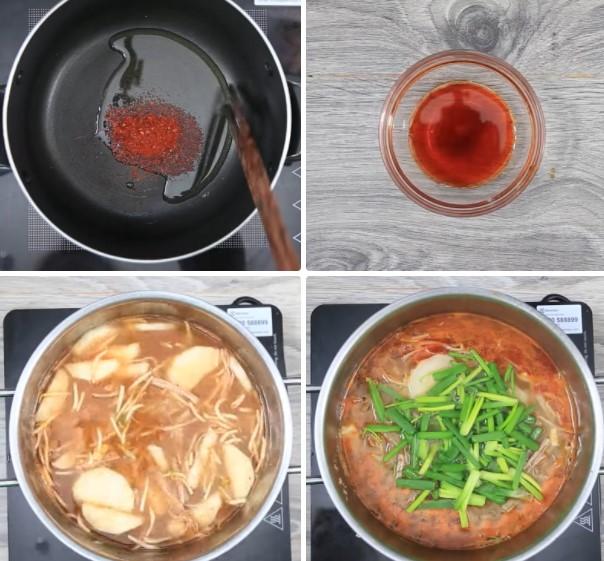 thịt bò nấu súp Hàn Quốc 6