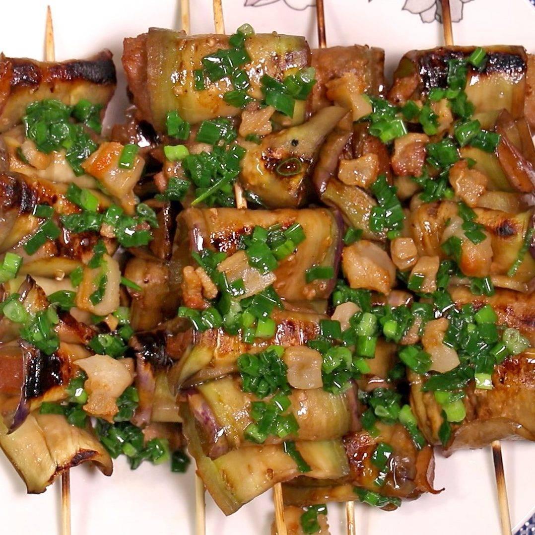 cà tím thịt ba chỉ nướng bếp ga 4