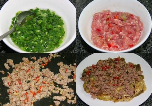 cà tím nướng thịt băm mỡ hành 2