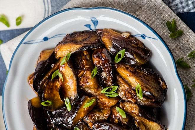 cà tím xào chay kiểu Trung Quốc 3