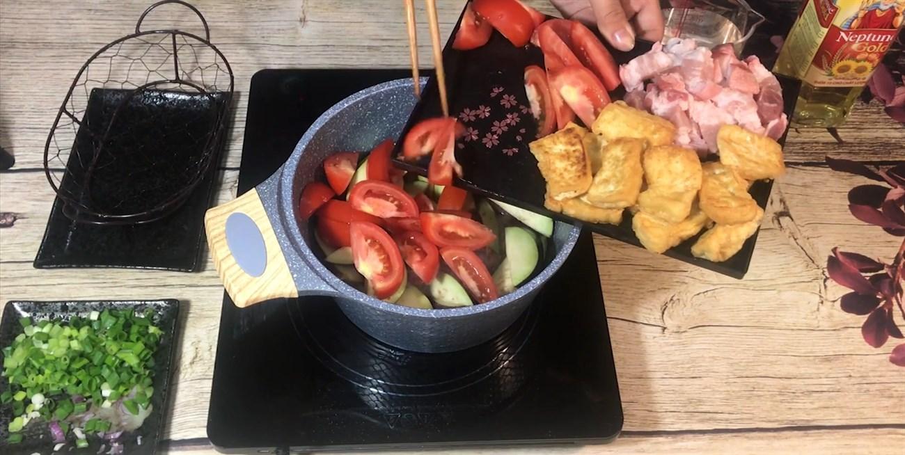cà tím xào đậu phụ thịt ba chỉ 4