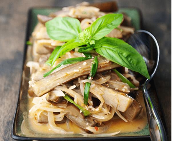 cà tím xào hành tây nước cốt dừa 4