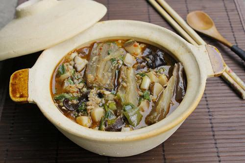 cà tím xào nấm hương thịt heo 6