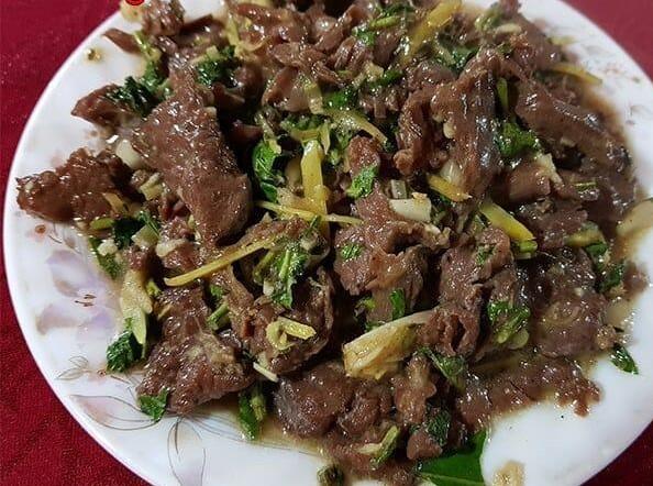 giá trị dinh dưỡng của thịt ngựa xào rau răm 1