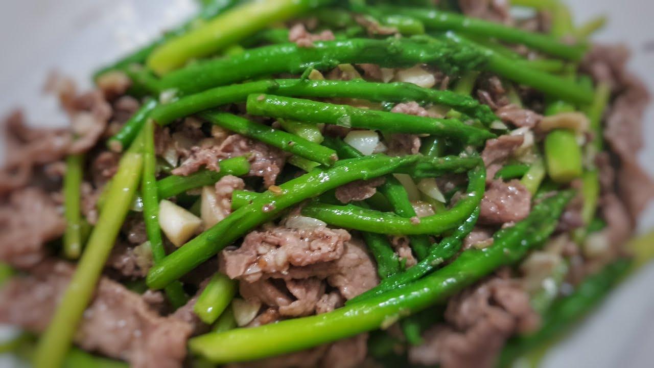 thịt nai xào măng tây 1
