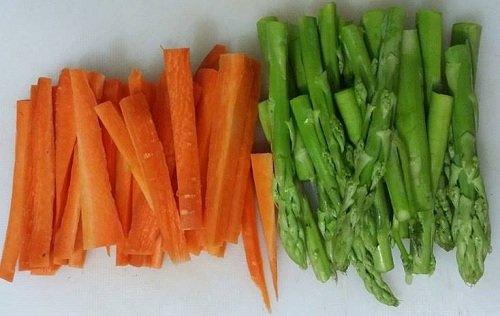thịt nai xào măng tây cà rốt 2