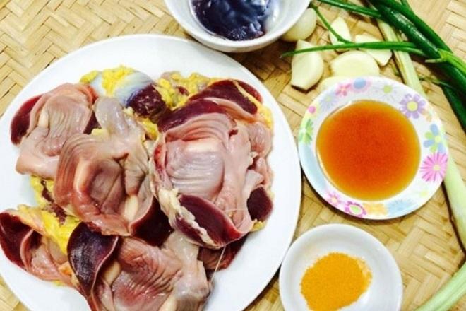 mề gà nướng nghệ mật ong sa tế 1