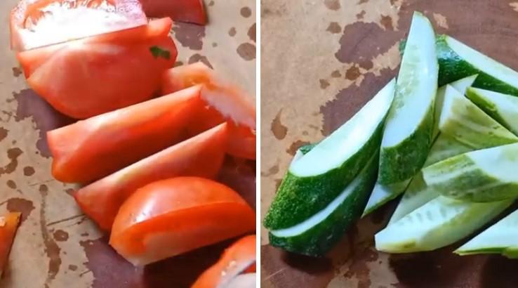hến xào dưa chuột cà chua 3