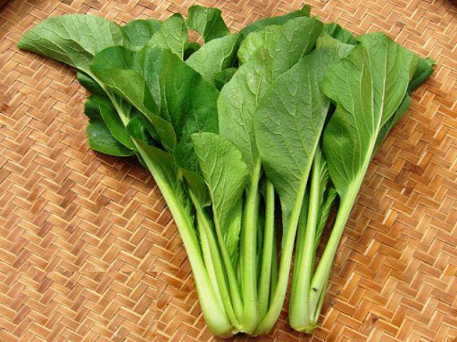 mề gà xào rau cải ngọt 1