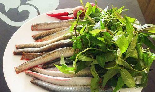 cá chạch kho rau răm 2