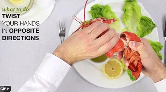 cách ăn tôm hùm hấp 4